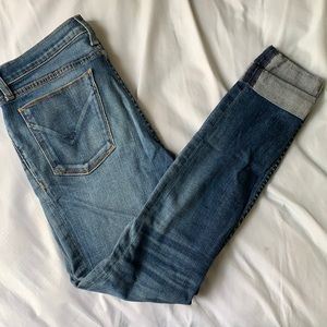 Hudson Cropped Rolled Jeans